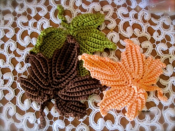 Free Maple Leaf Potholder Crochet Pattern : Unavailable Listing on Etsy