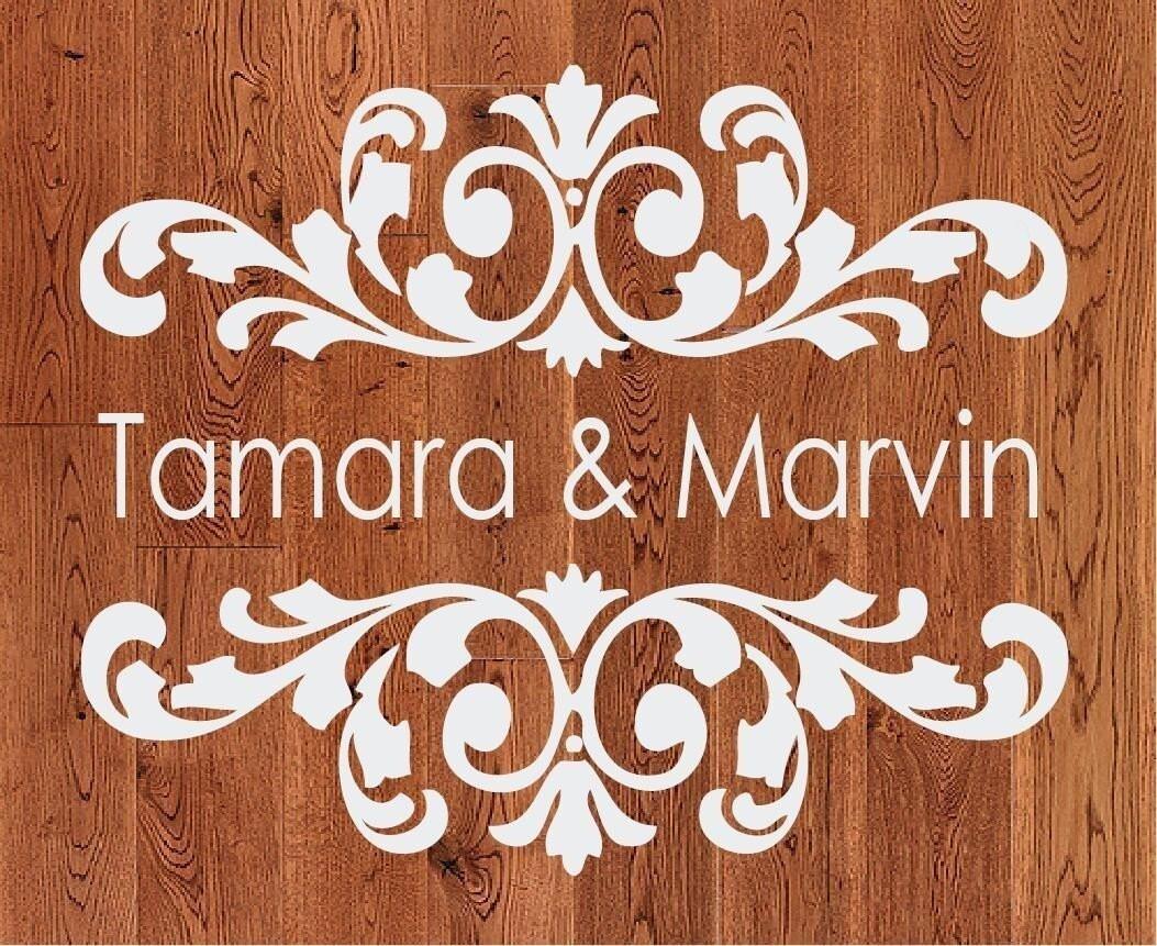 Wedding Monogram Dance Floor Decal By Ten23designs On Etsy