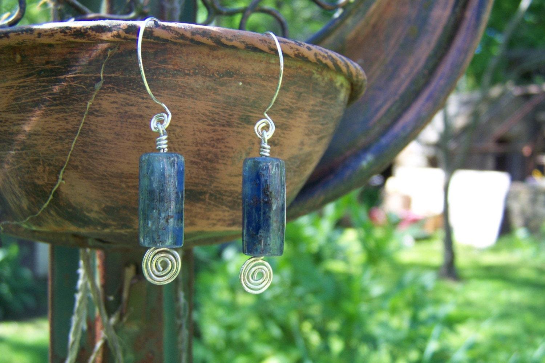 Kyanite Ocean Earrings - HANDMADE