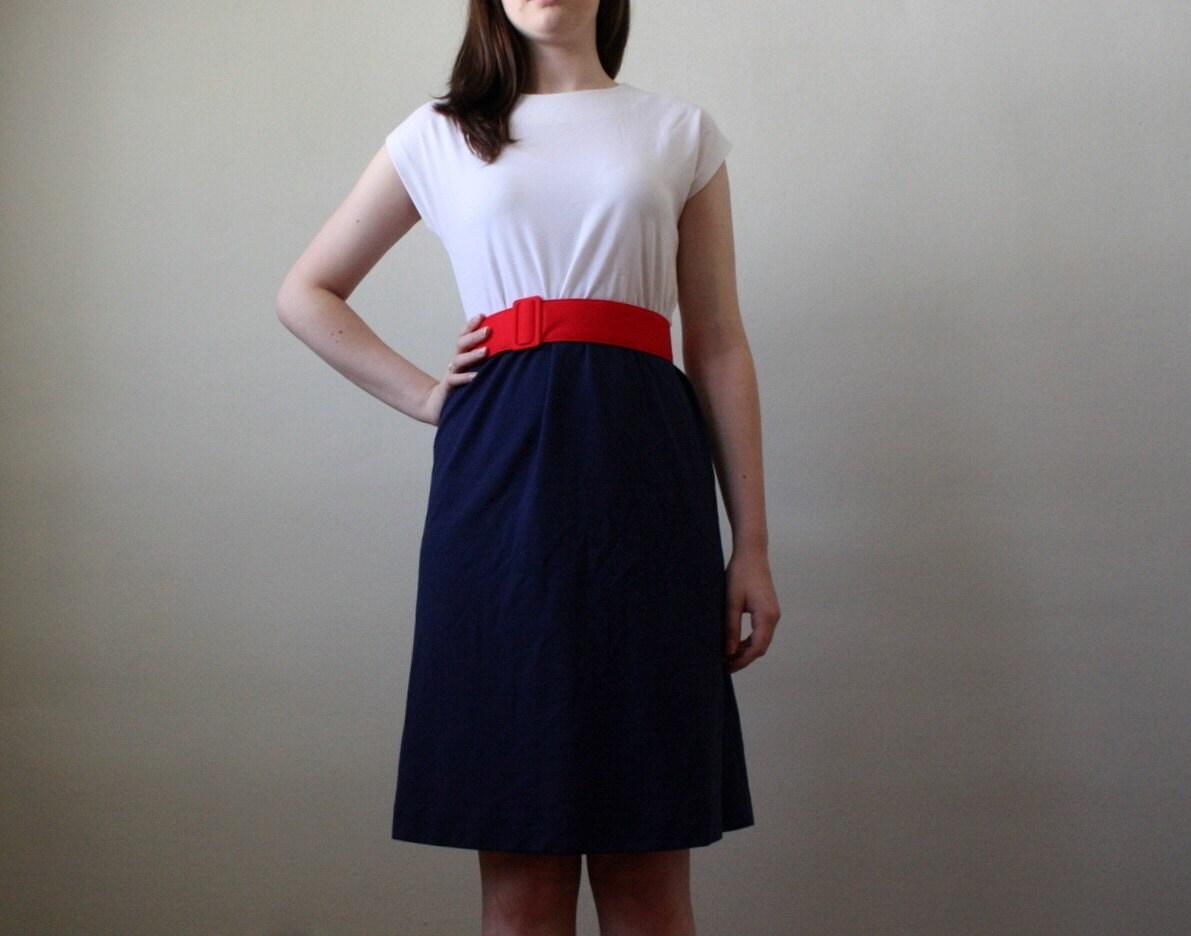 vintage 1970's sailorette dress