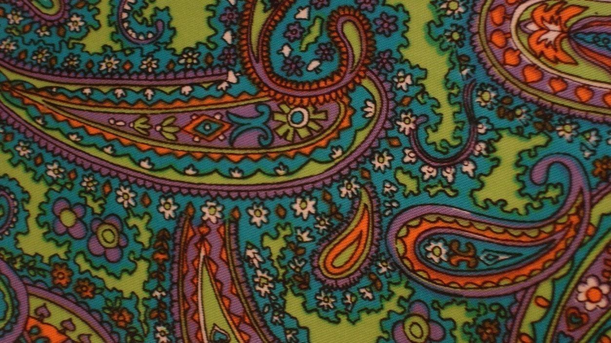 vintage fabric - paisley gabadine