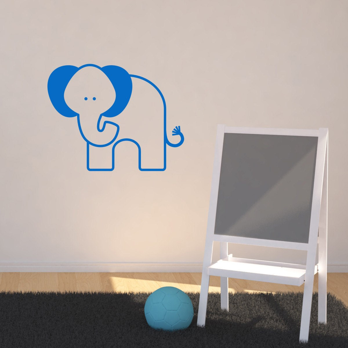 Nursery Elephant Wall Sticker Elephant Wall Decals Jungle Wall Art Animal Wall Transfer  AN036