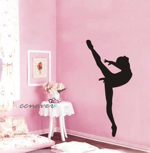 Dancing girl balletremovable graphic art wall decals by for Ballerina wall mural