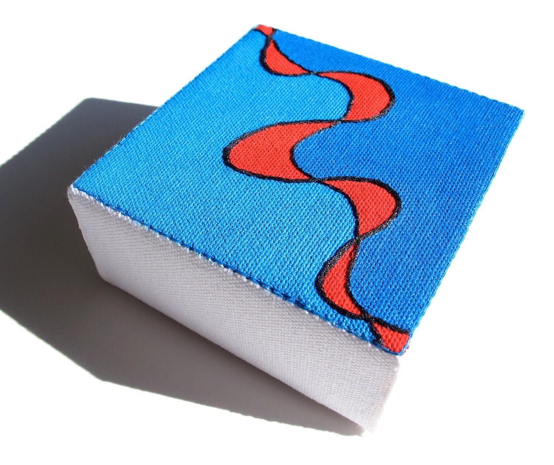 Modern Embroidery Art:  Lifeline in Blue