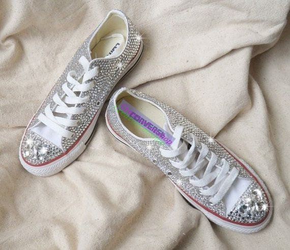 Bling Converse Wedding Shoes Crystal Wedding Converse Shoes