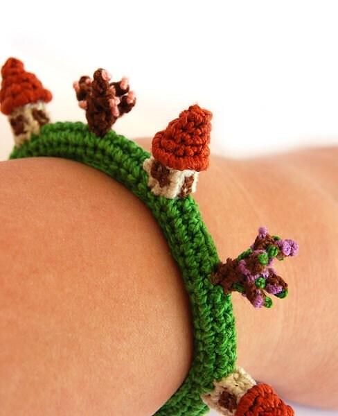 bracelet Village  - crocheted bracelet