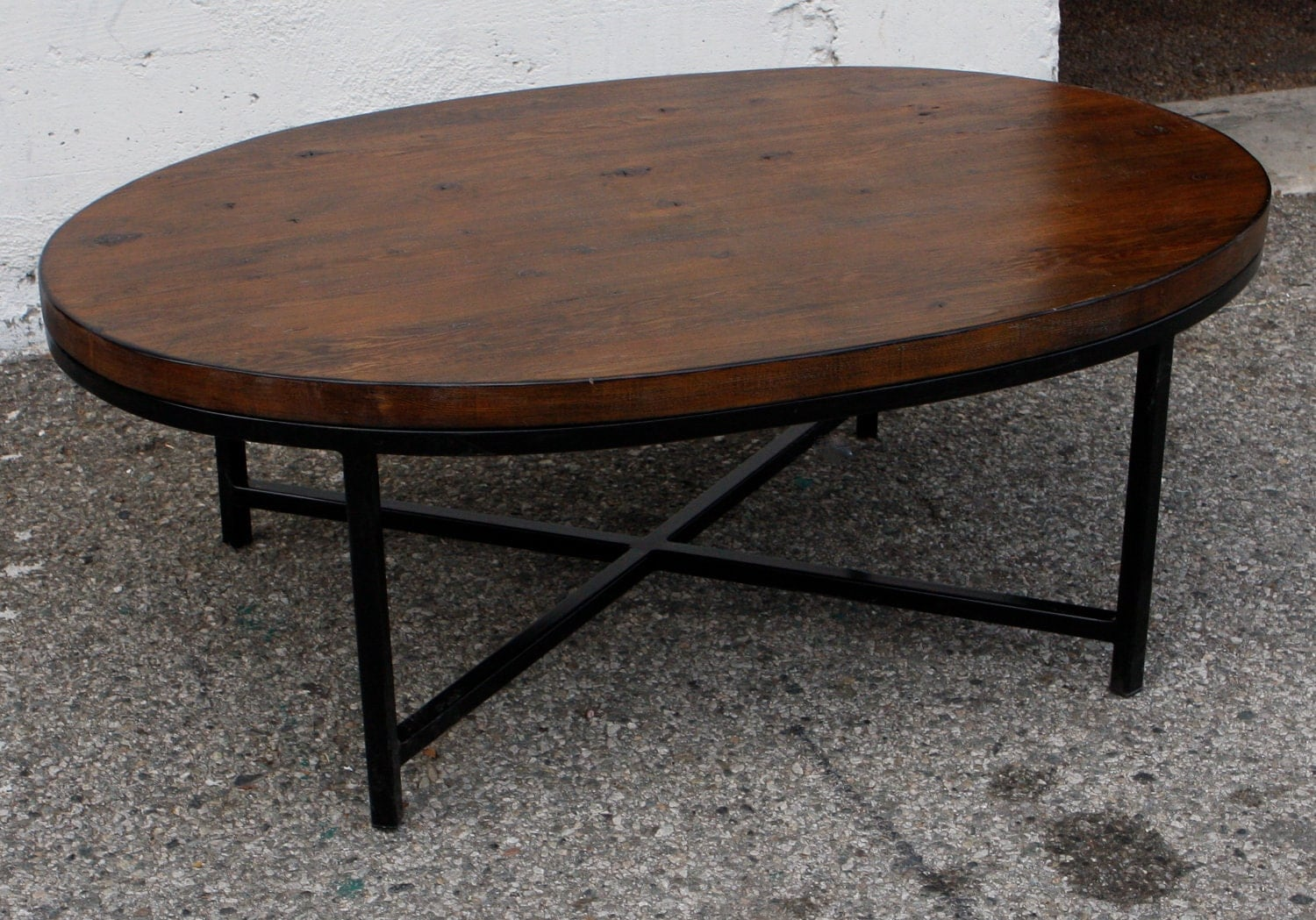 Wilshire Custom Oval Coffee Table Los By Mortiseandtenon On Etsy