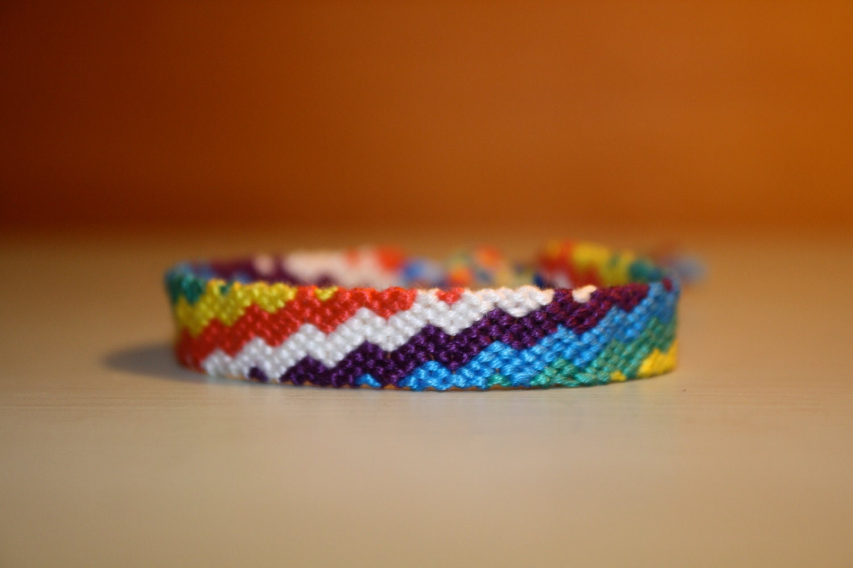 friendship bracelet rainbow zig zag by sparkyourdesire on etsy