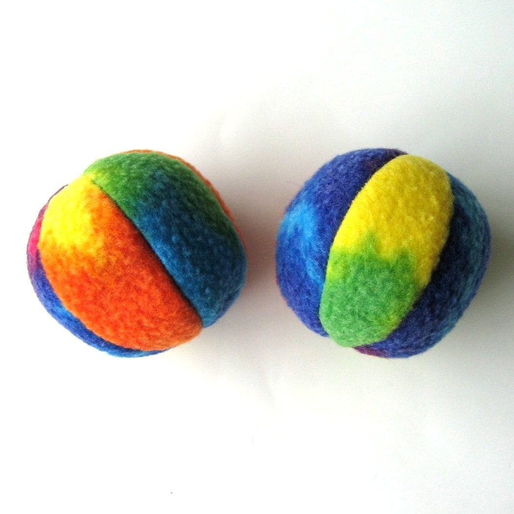 Two Balls Organic Catnip Bell Cat Toys