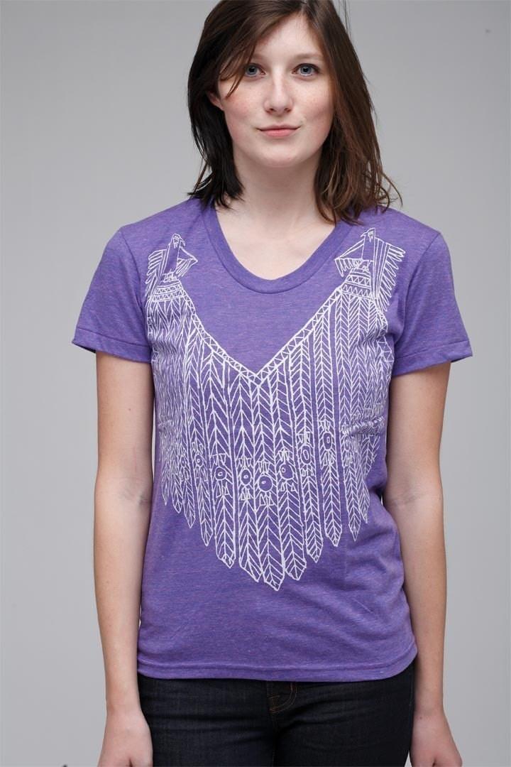 Eagle Feather Vest T Shirt