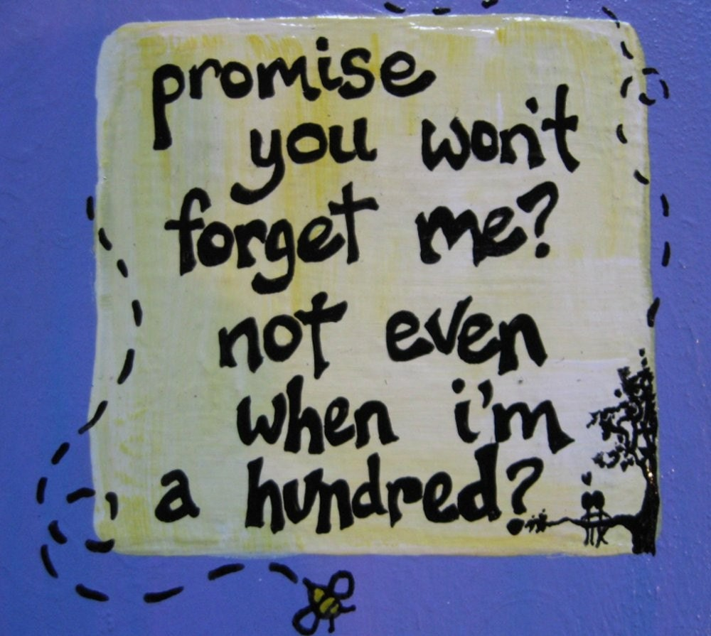 Promise you won't forget me  hand painted by littlewisdoms on Etsy from etsy.com