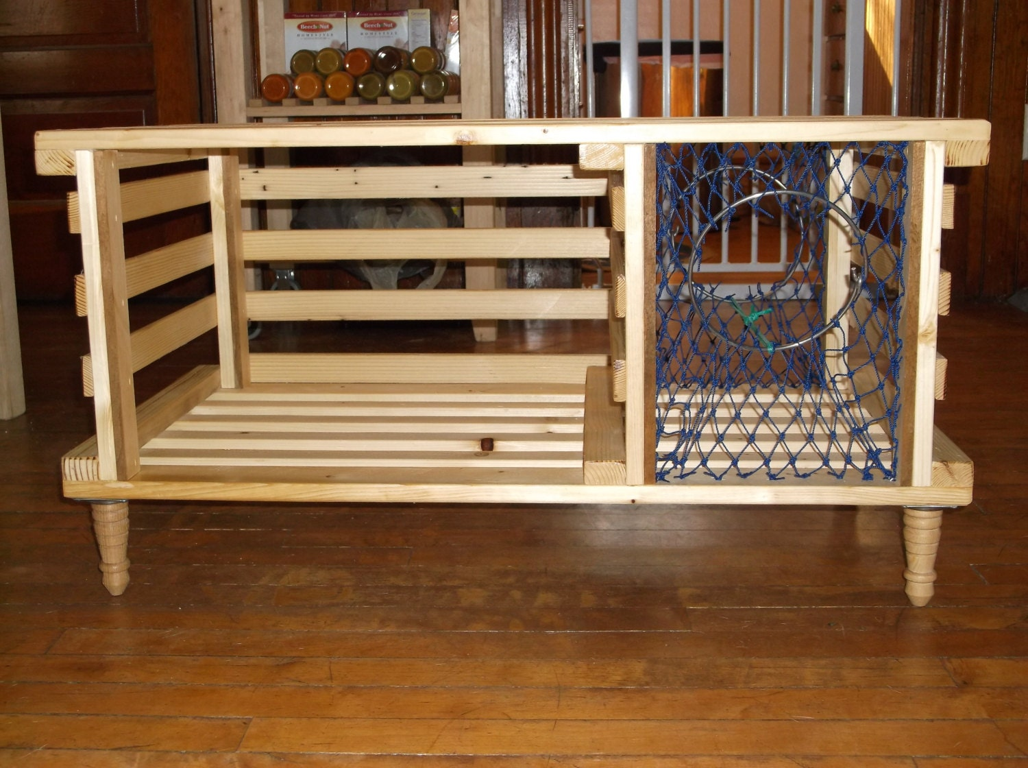 Handmade Wooden Lobster Trap Coffee Table Made by MaineLobsterTrap