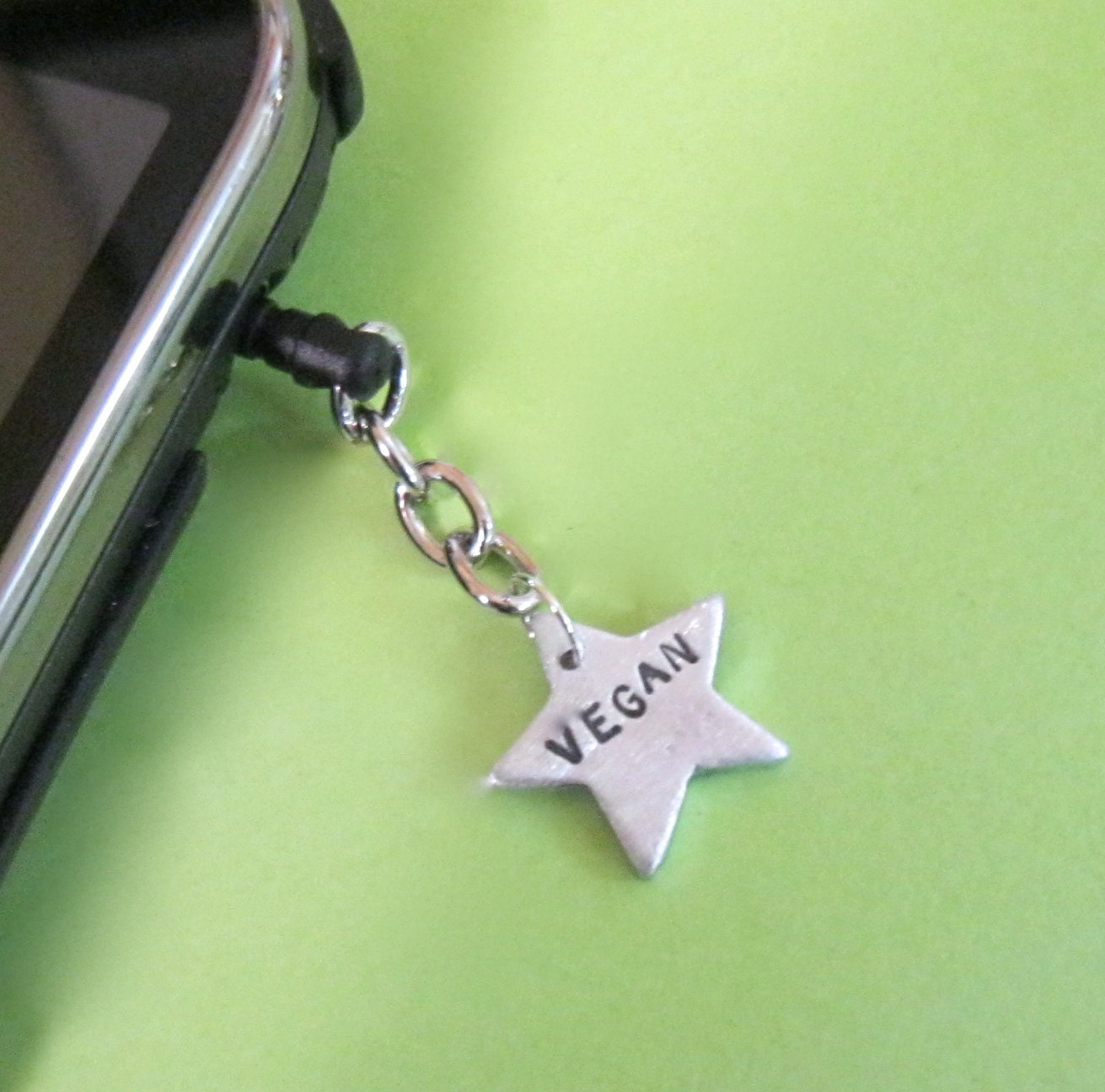 Vegan Star IPhone,IPad, Android Dust Plug Charm - crobinsondesign