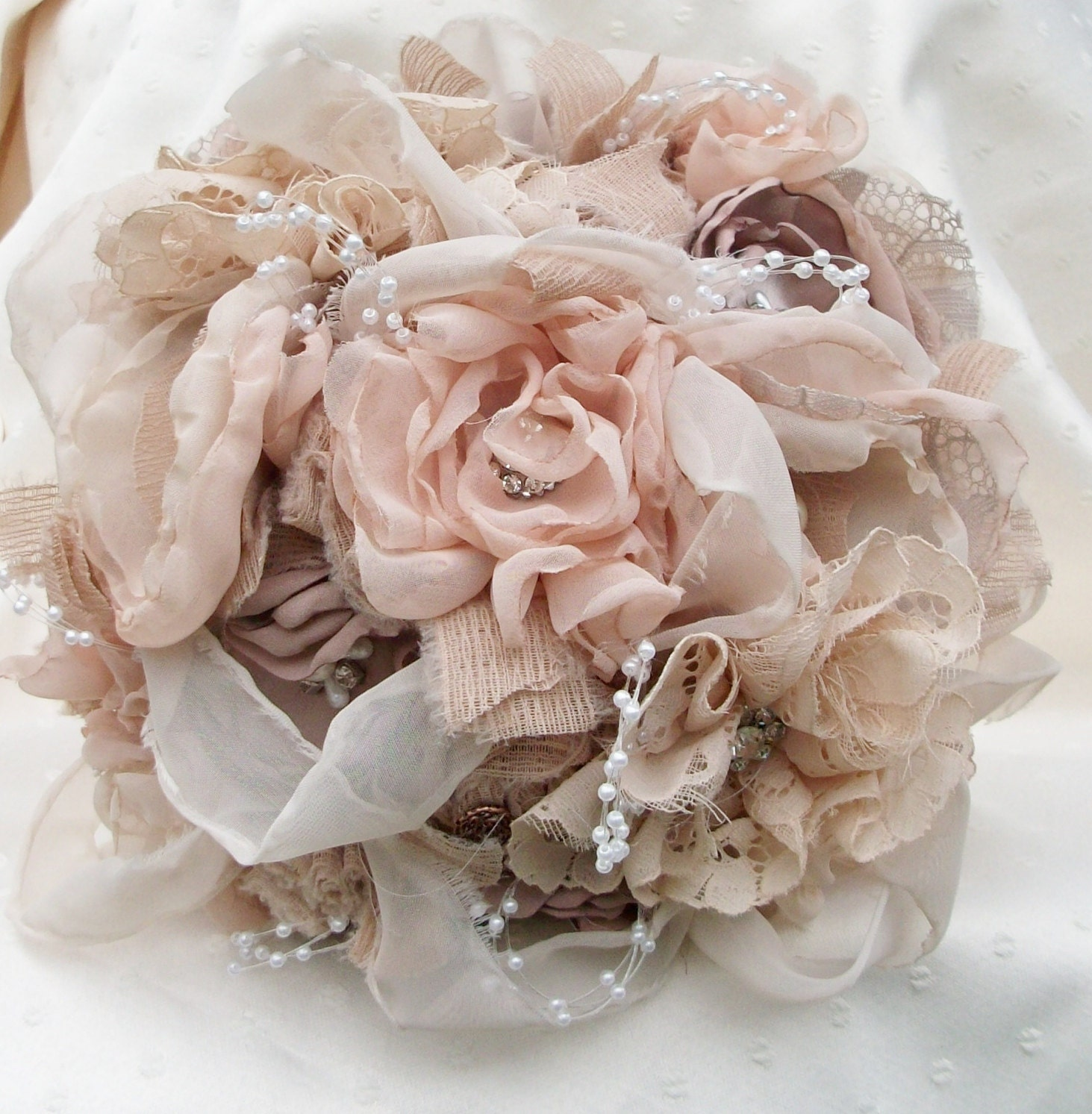 Bridal Bouquet Materials : Fabric bouquet vintage inspired by apromisemadetoday