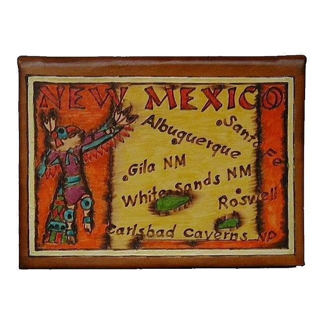 NEW MEXICO - Leather Travel Photo Album - Handmade