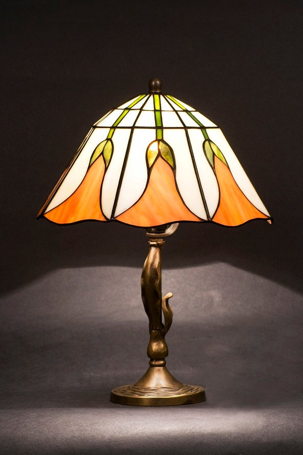 Small Lamp Shade Small Lamp Stained Glass Lamp Accent Lamp Table Lamp Bedside Lamp Desk Lamp Standing Lamp Home Decor Vintage Lamp