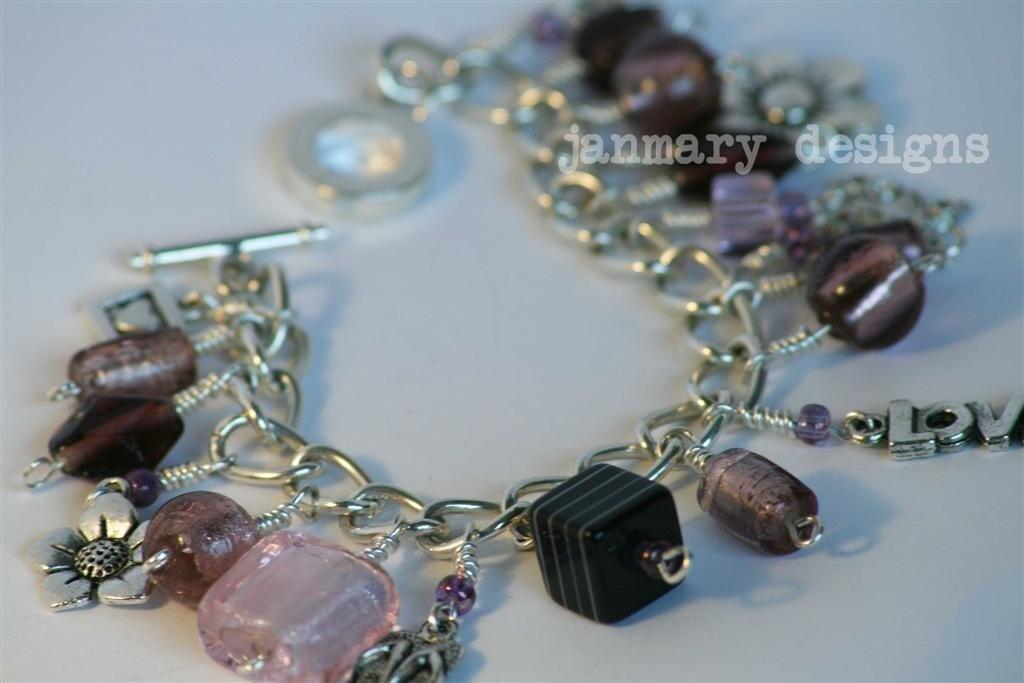 Velvet Plum Charm Bracelet