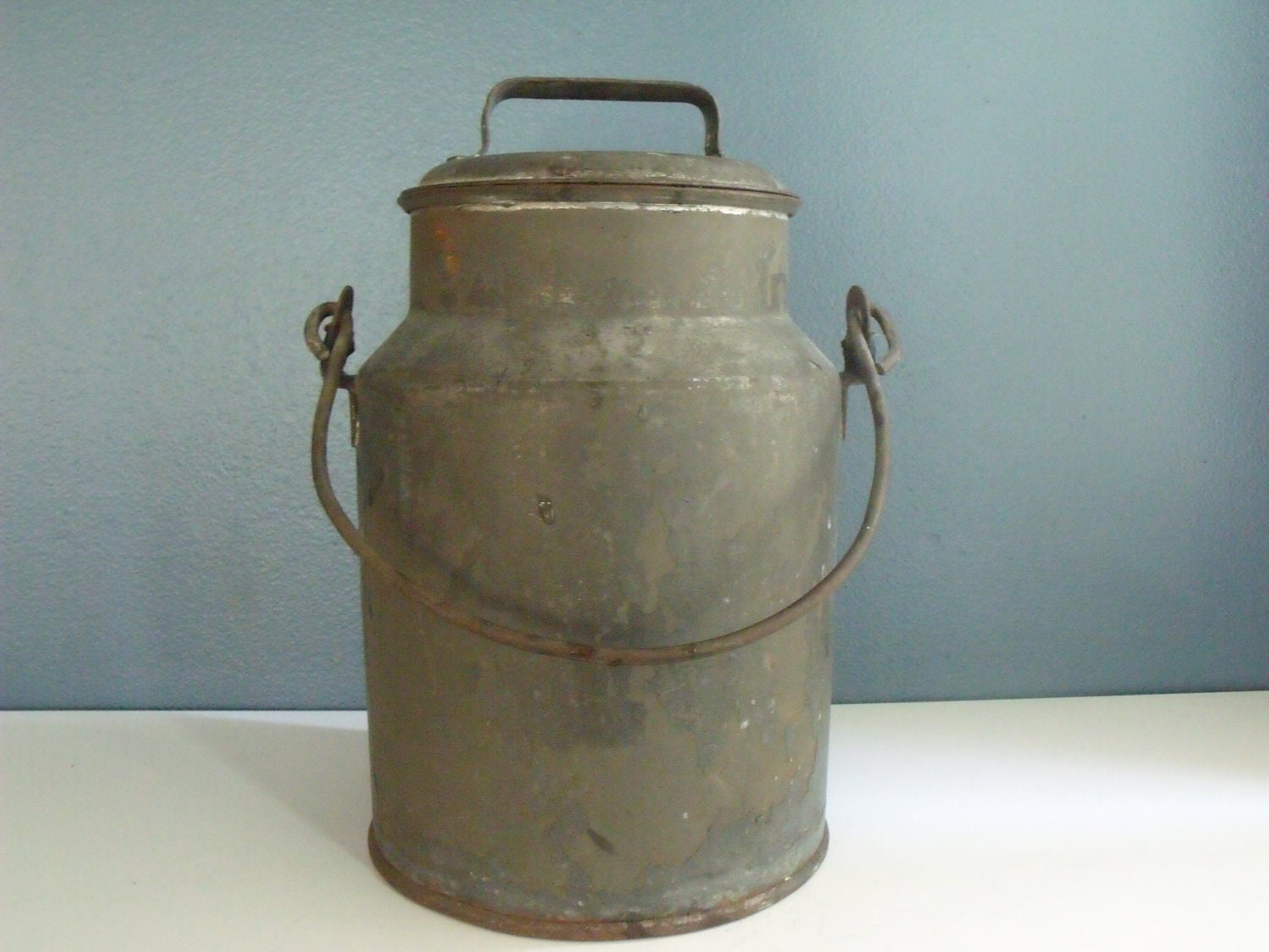 Milk Can Galvanized Metal 4 Quart Security Dairy Co By
