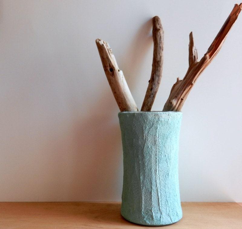 Aquamarine blue vase / blue home decor / Robins egg blue vase / Home Decor - CarriageOakCottage
