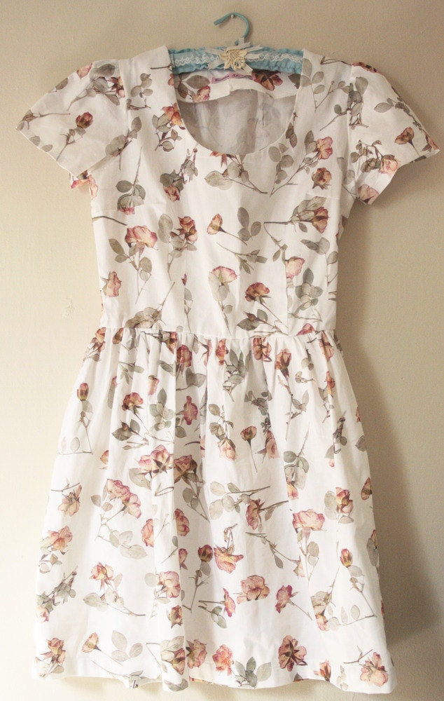 READY TO SHIP -The Tender Rose dress - an original design by Caitlin Shearer