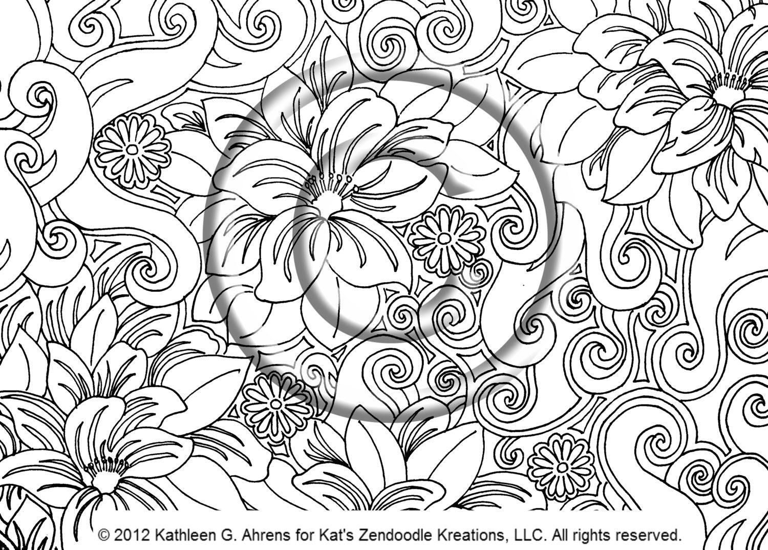psychedelic hippie coloring page instant pdf download 1500x1155 psychedelic - Psychedelic Hippie Coloring Pages