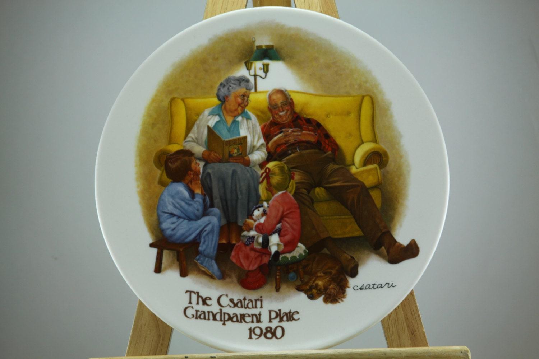 The Csatari Grandparent Plate 1980 - In original packaging - with Certificate of Authenticity.