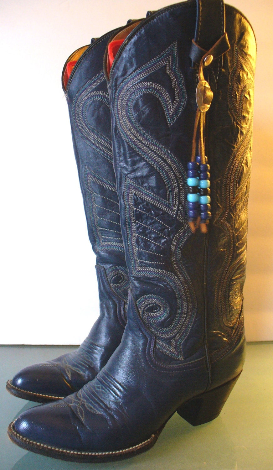 vintage mexican s cowboy boots size 7 by theoldbagonline