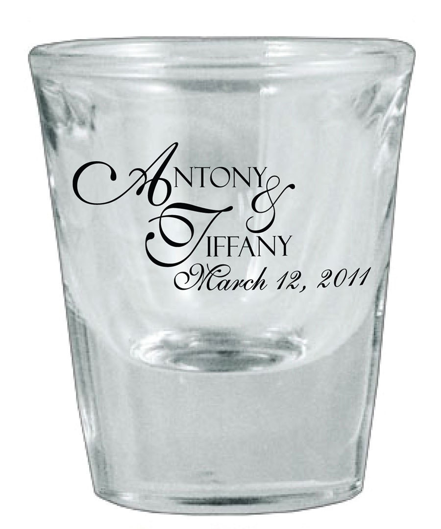 150 custom personalized wedding favor glass shot by factory21