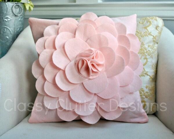 Светло-розовый цветок Войлок Чехол