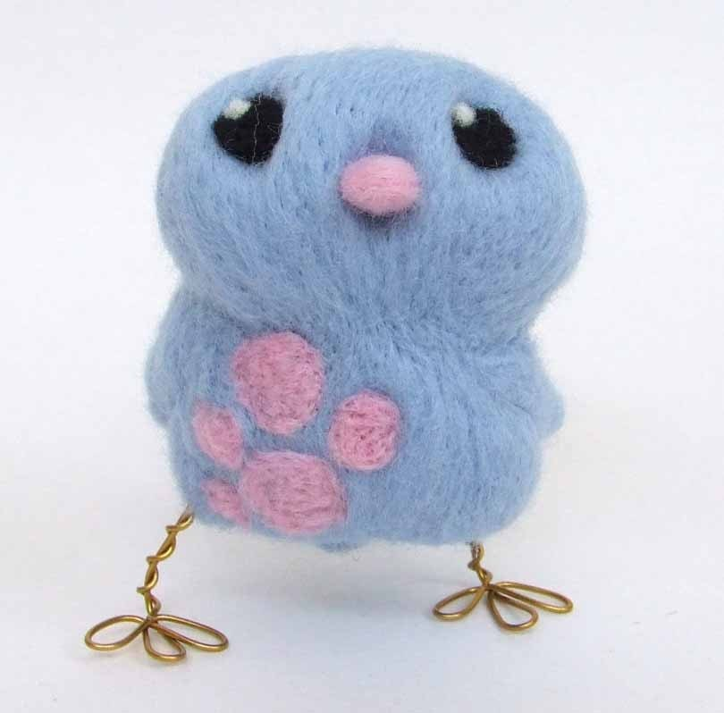 Needle Felted Tweet Blue Chick