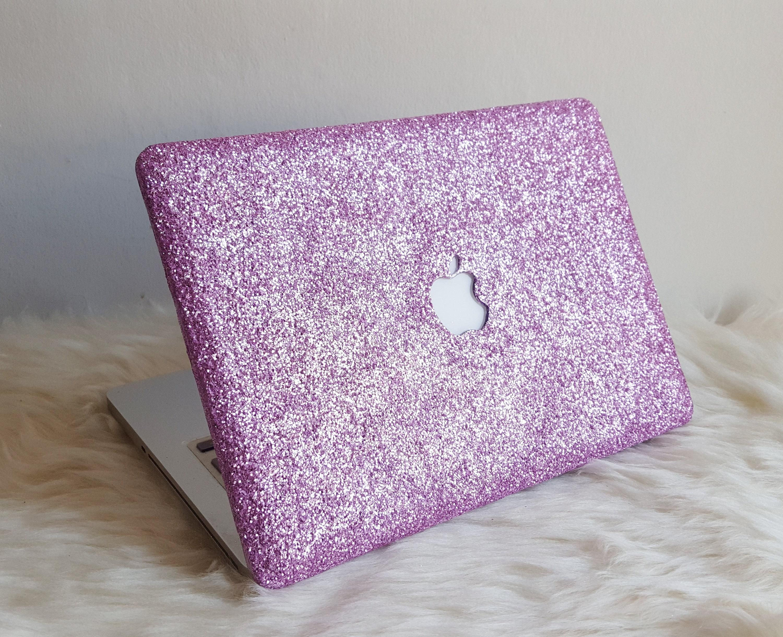 Lilac Glitter MacBook Hard Case For Air Pro Retina