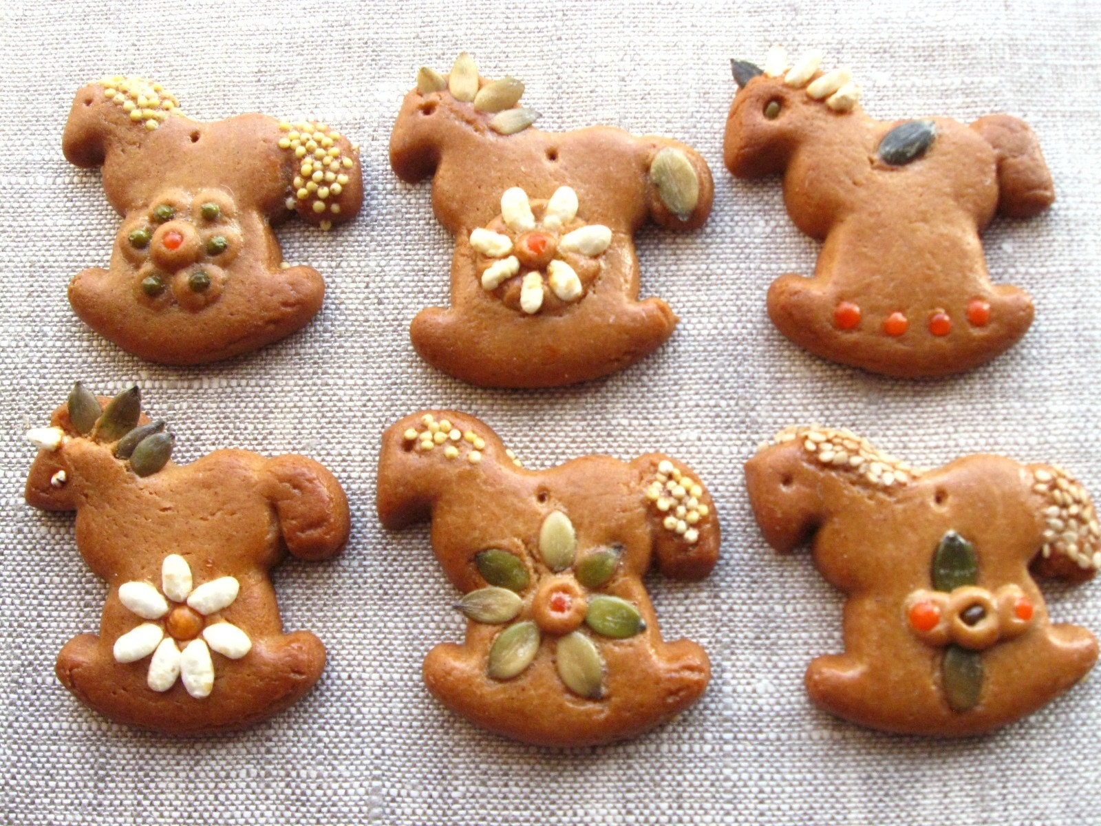 Gingerbread Rockinghorses - One Dozen Gingerbread cookies
