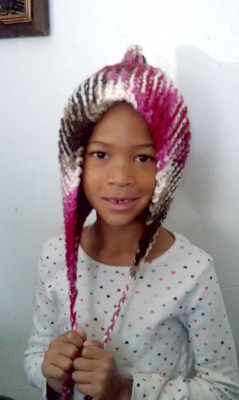 Girls Knit Pixie Hat, Girls Hat, Pixie Hat, Elf Hat