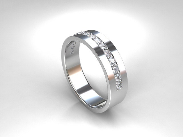 0 45ct modern wedding band wide ring by