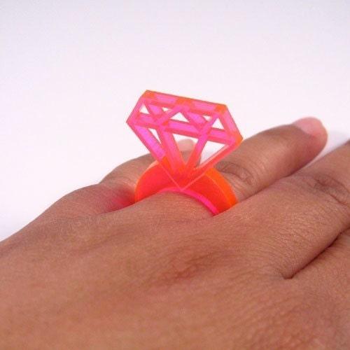 Fake Diamond ring--laser cut jewelry