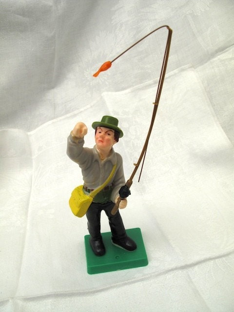 cake toppers fishing. Vintage Cake Topper Fly