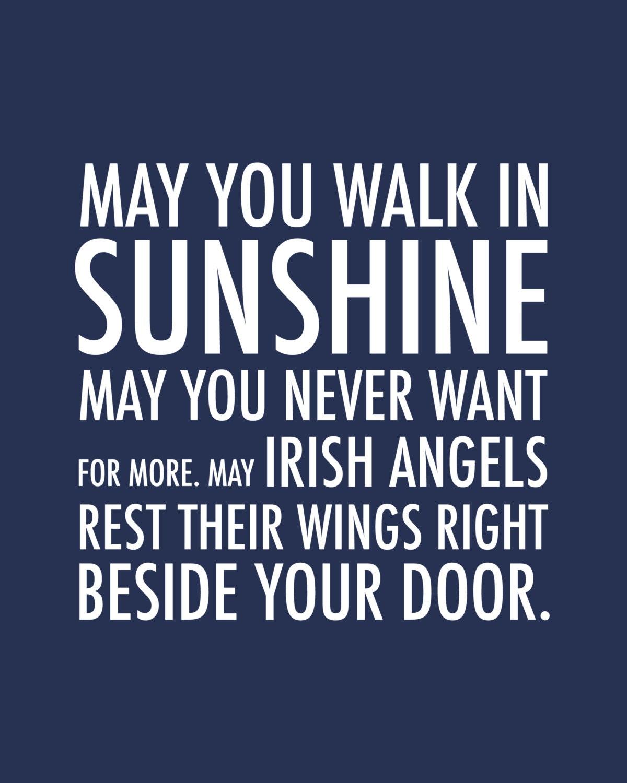 inspirational quote irish blessing irish angels by karimachal