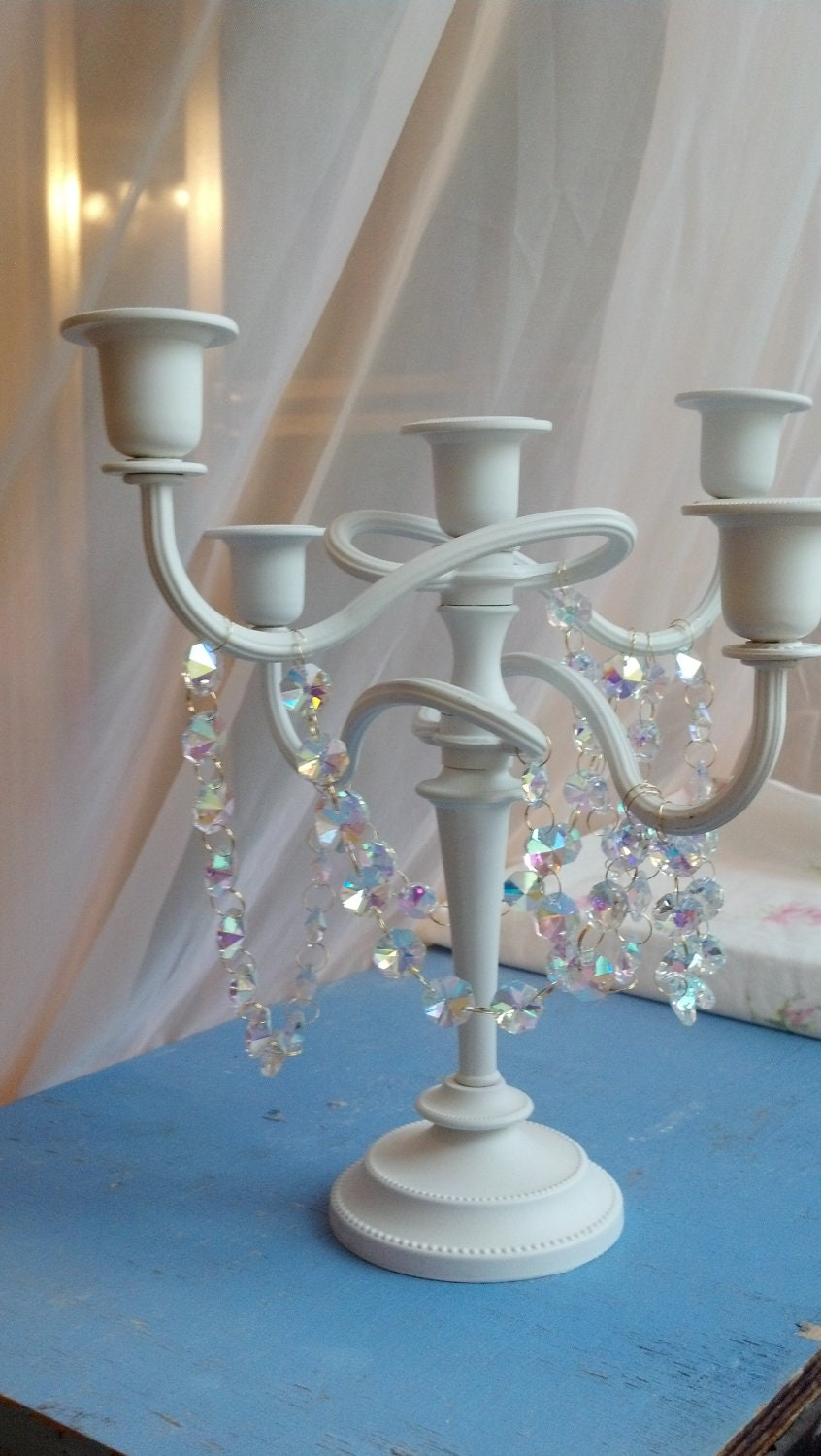 Shabby Chic Candelabra Candleholder Candle By Chandelierdesign