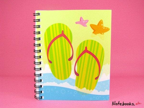 Flip-flops - Small 4 x 5 Blank Notebook