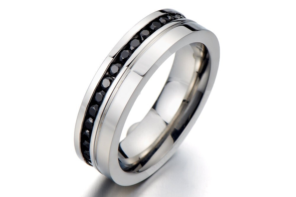 Promise rings for men black