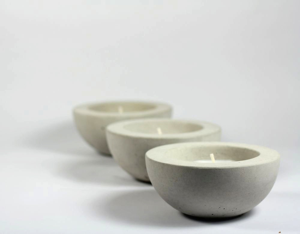 Bowl Tea Light Candle Holder - set of 3 - roughfusion