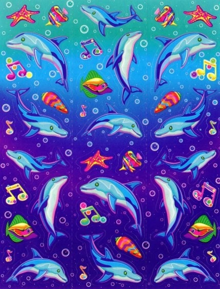 gallery for lisa frank dolphin background