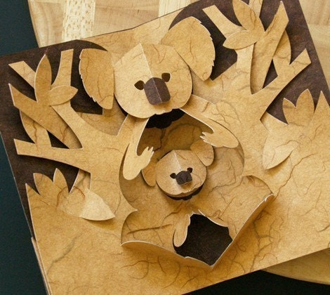 Kirigami Koala Pop-up Card, Make Yourself