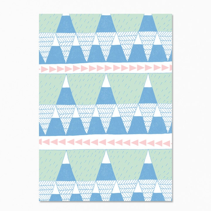On Sale Mountain Blue Postcard