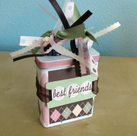 Best Friends Altered Band Aid Tin and Mini Scrapbook