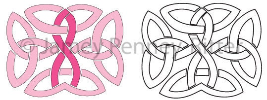 Temporary tattoo design 5 breast cancer by bemuseddesign for Celtic breast cancer tattoos
