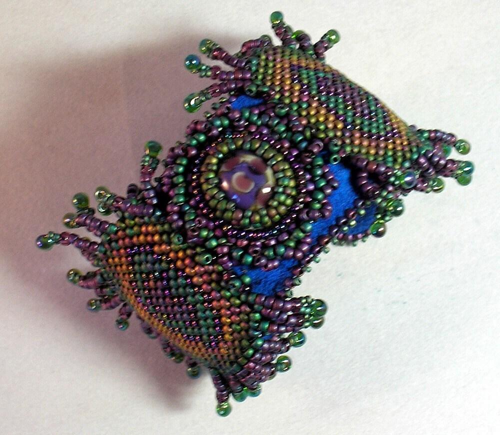 Hannah Rosner bead pattern cuff bracelet peyote stitch