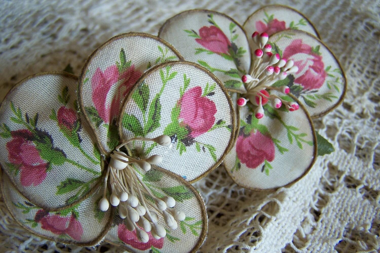 2 Vintage Millinery Flowers