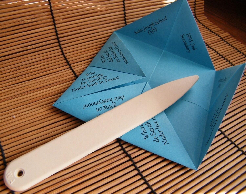 pin paper folding crafts tea bag kaleidoscopic design