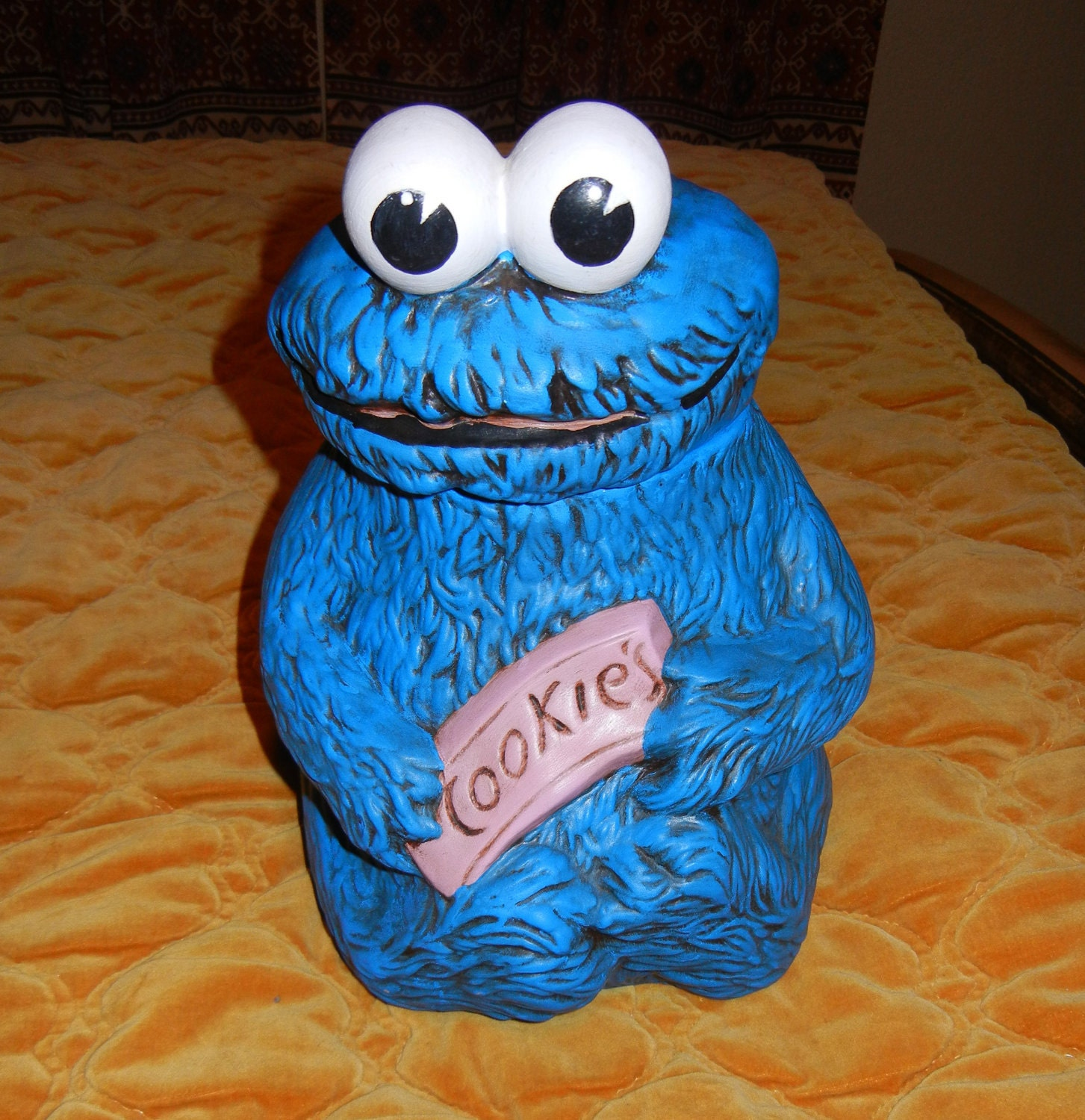 Sale 1970s Sesame Street Cookie Monster By Thecuriouspanther